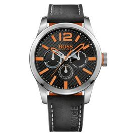 Boss Orange Paris Men's Black Leather Strap Watch