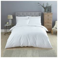 Sainsbury's Home 300TC White Dobby Bedding Set - Double