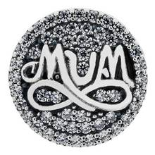 Moon & Back Sterling Silver Cubic Zirconia Mum Bead