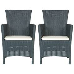 Keter Iowa Chair Set 2 Pack - Graphite