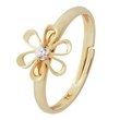 more details on Miss Glitter 9ct Gold Kids' CZ Flower Adjustable Ring.