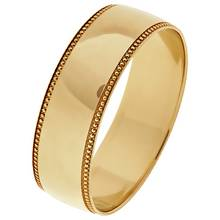 Revere 9ct Gold Plain Milgrain Wedding Ring - 6mm