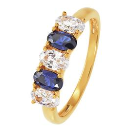 Revere Yellow Gold Plated Cubic Zirconia 5 Stone Ring
