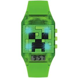 Minecraft Children's Green Silicone Strap Watch
