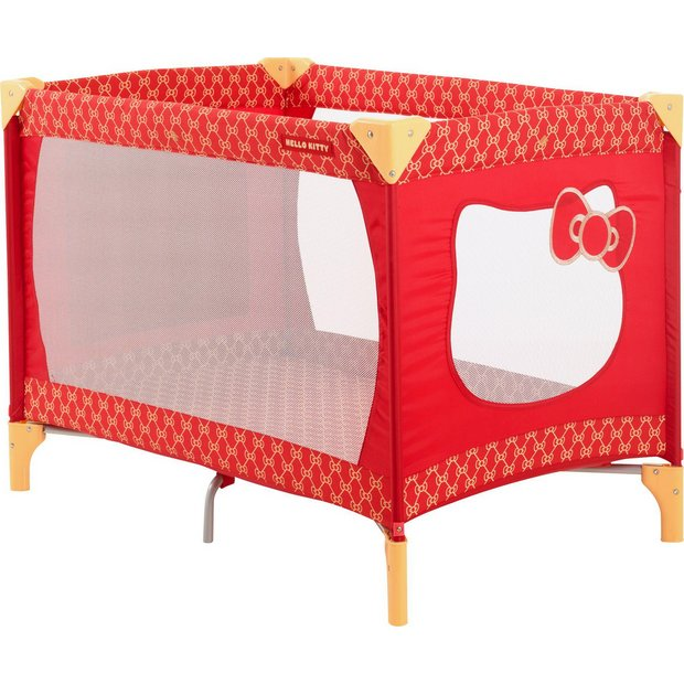 buy my first hello kitty travel cot with bassinette at your online shop for travel. Black Bedroom Furniture Sets. Home Design Ideas