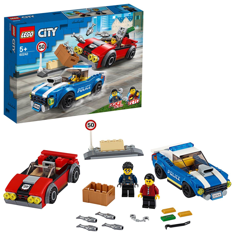 NEW LEGO City 60242 Police Highway Arrest Sealed Set MiniFigure Vito Duke Detain