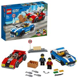 LEGO City Police Highway Arrest Cars Toy Set - 60242