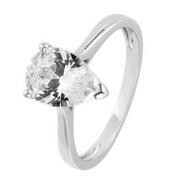 Revere Sterling Silver Cubic Zirconia Solitaire Ring
