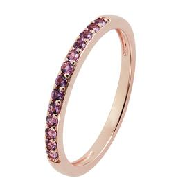 Revere 9ct Rose Gold Plated Cubic Zirconia Stack Ring
