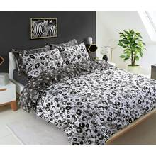 Pieridae Grey Animal Print Bedding Set - Kingsize