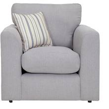 HOME Cora Fabric Chair - Light Grey