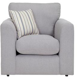 Argos Home Cora Fabric Armchair - Light Grey