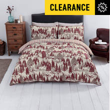 Sainsbury's Home Red Toile Printed Bedding Set - Single