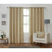 Julian Charles Iowa Lined Curtains - 168x229cm - Gold