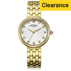 Rotary Ladies' Semi Precious Stone Set Gold Plated Watch