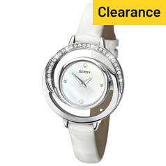 Seksy Ladies' White Mother of Pearl Dial & Leather Strap