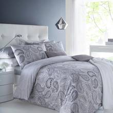 Pieridae Grey Paisley Bedding Set - Kingsize