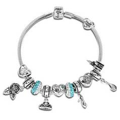 c8d37195b938 Disney Princess Crystal Made Up Charm Bracelet