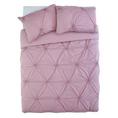 Sainsbury's Home Meadow Pink Ruched Bedding Set - Kingsize