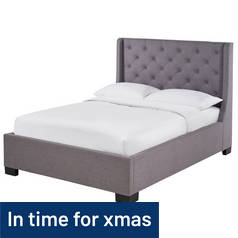 Argos Home Levena Kingsize Fabric Bed Frame - Grey