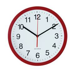 Argos Home Radio Controlled Wall Clock - Red