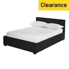 Argos Home Lavendon Black 2 Drawer Double Bed Frame