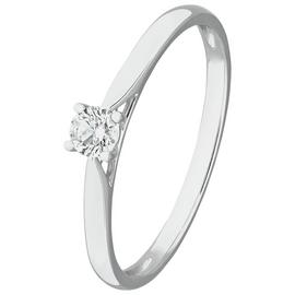 Revere 9ct White Gold 0.15ct Diamond Solitaire Ring