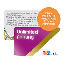 Epson EcoTank Unlimited Print Card ADD-ON ONLY