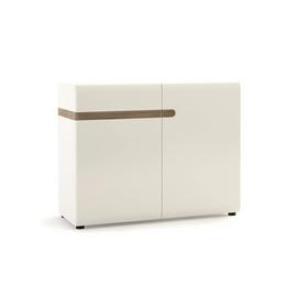Exton 2 Door 1 Drawer Sideboard - White Gloss