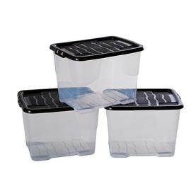 Argos Home 8 Litre Curve Lidded Storage Box - Set of 3