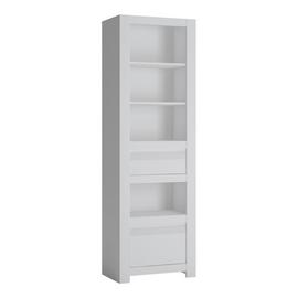 Delph 2 Drawer 2 Shelf Bookcase - White