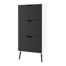Viken 3 Drawer Shoe Cabinet - White & Black