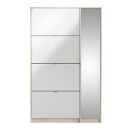 1 Door 4 Drawer Shoe Cabinet - Two Tone