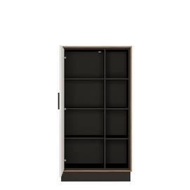 Colton 1 Door 3 Shelf Wide Bookcase