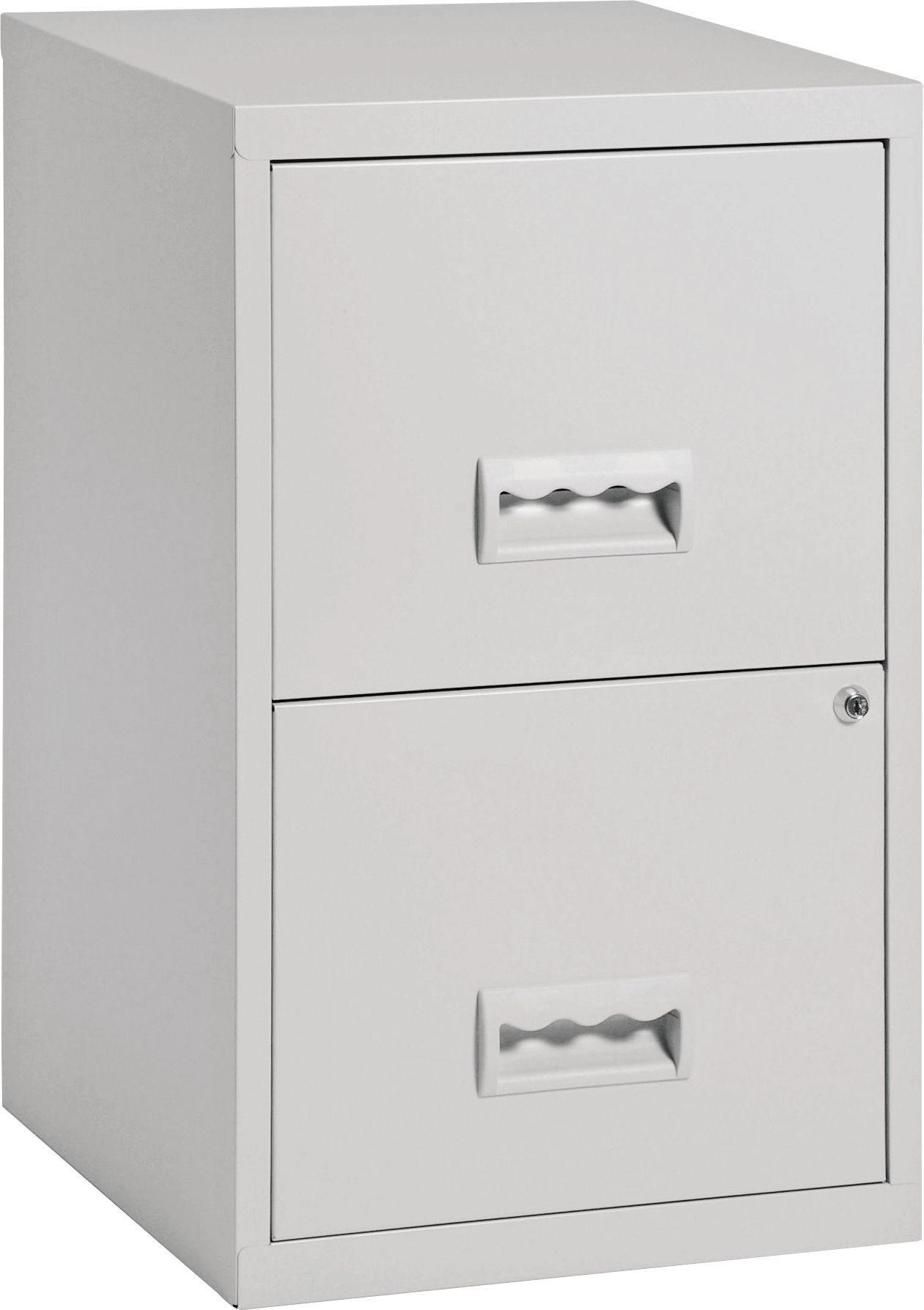 pierre henry 2 drawer filing cabinet grey