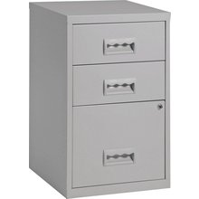 Pierre Henry 3 Drawer Combi Filing Cabinet - Grey