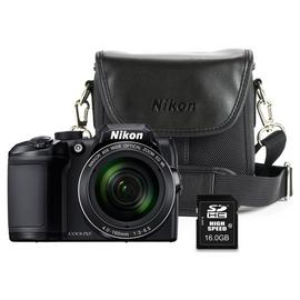 Nikon B500 16MP 40x Zoom Bridge Camera Bundle - Black