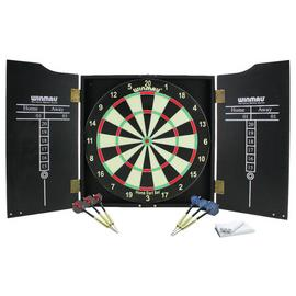 Winmau Home Double Sided Dartboard, Cabinet and Darts Set