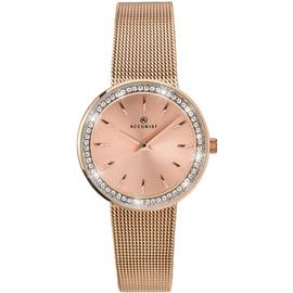Accurist Ladies' Rose Gold Plated Milanese Watch