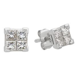 Revere 9ct White Gold 0.33ct tw Diamond Stud Earrings