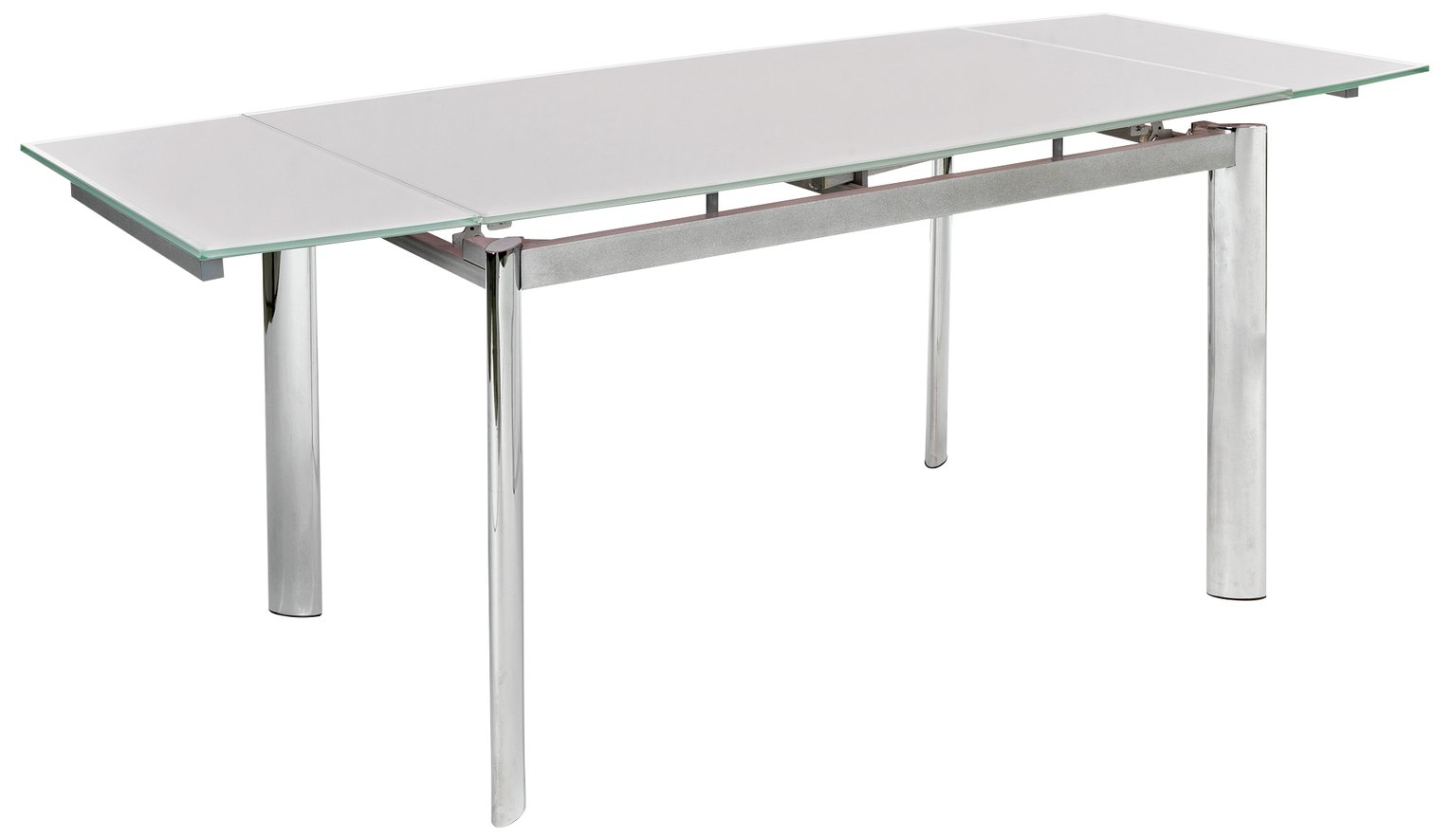 hygena erik extendable glass 8 seater dining table white