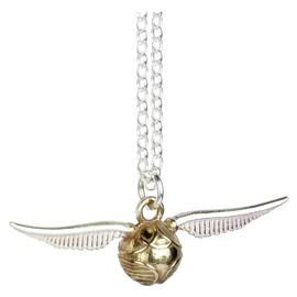 Harry Potter Sterling Silver Golden Snitch Charm Necklace