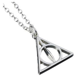 Harry Potter Sterling Silver Deathly Hallows Charm Necklace
