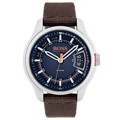 Hugo Boss Orange Hong Kong Men's Brown Leather Strap Watch