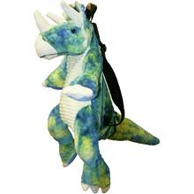 Great Gizmos Triceratops Dinosaur Backpack - Blue/ Green.
