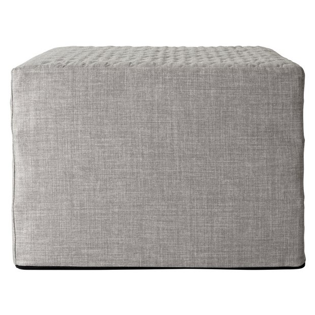 los angeles faac2 ec451 Buy Argos Home Prim Fabric Single Ottoman Bed - Light Grey | Sofa beds |  Argos