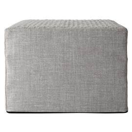 Argos Home Prim Fabric Single Ottoman Bed - Light Grey