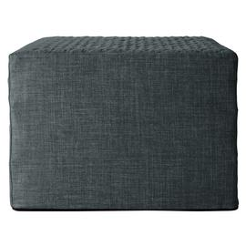 Argos Home Prim Fabric Single Ottoman Bed - Charcoal