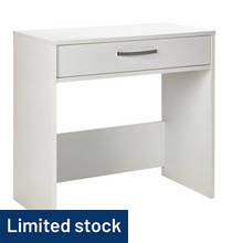 Hygena Remo 1 Drawer Desk - White