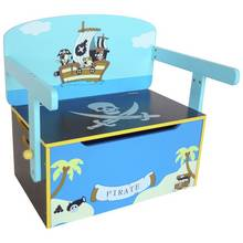 Kiddi Style Pirate Convertable Toy Box - Blue